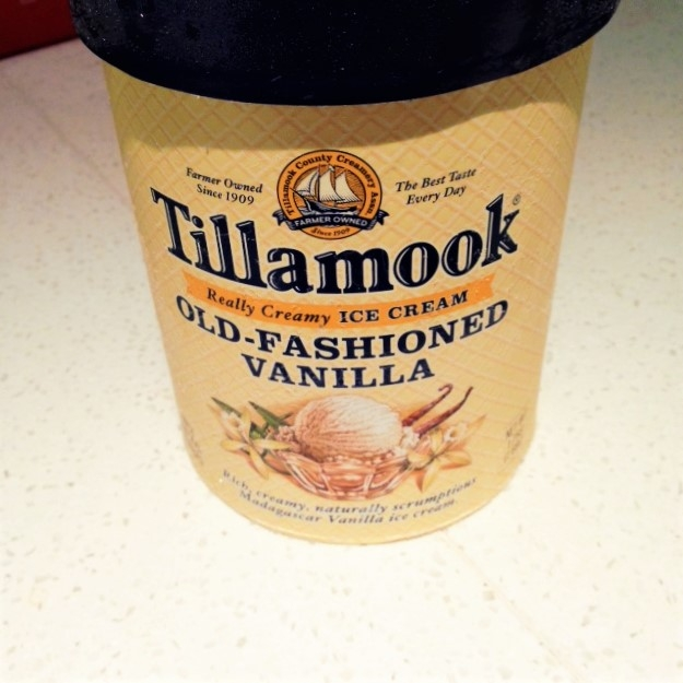 Some local, Oregon, Tillamook Ice Cream to satisfy my sweet tooth