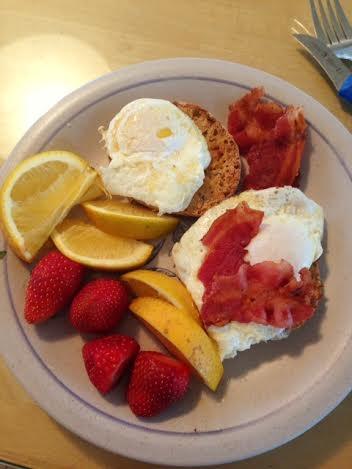 eggs bacon fruit