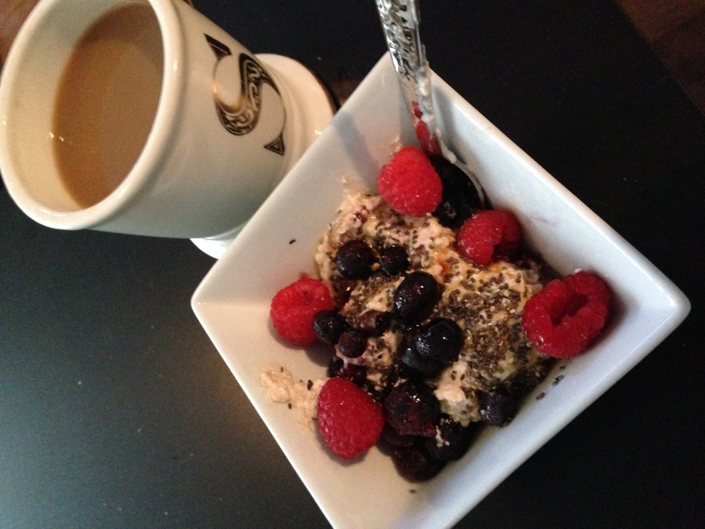 breakfast oatmeal with chia