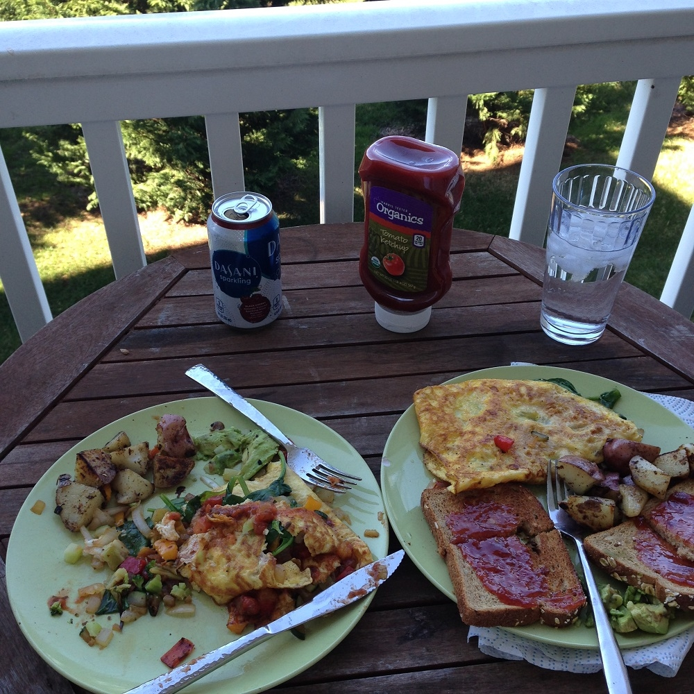 brunch on porch