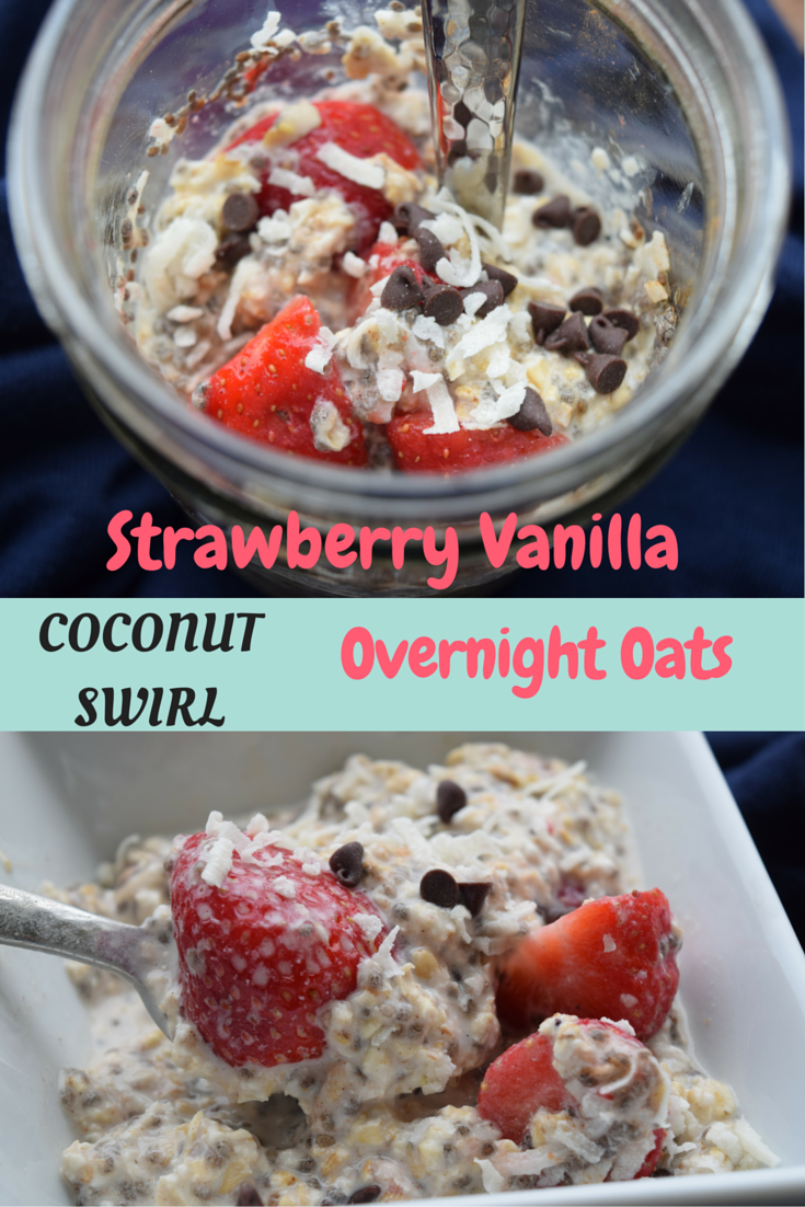 Strawberry Coconut Oats, overnight oats