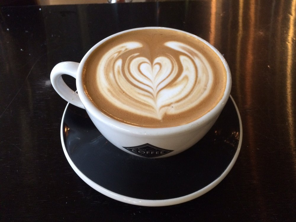 latte, not just coffee, how I treat myself