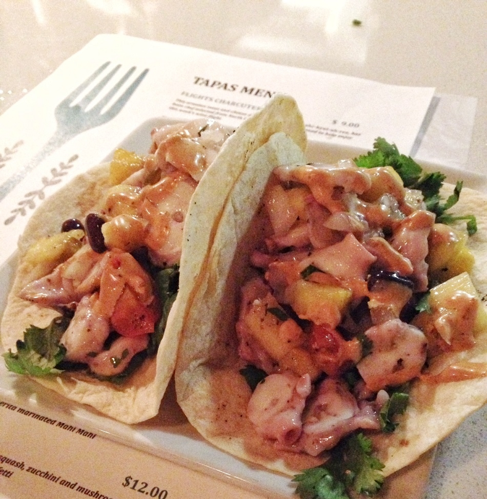Octopus Ceviche tacos