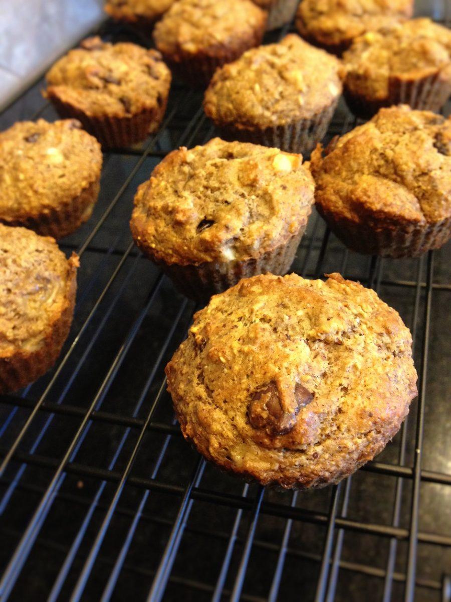 gluten free, oatmeal muffins, healthy muffins, flourless muffins