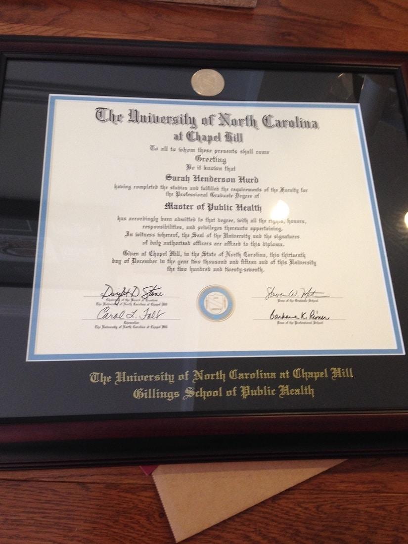 UNC diploma