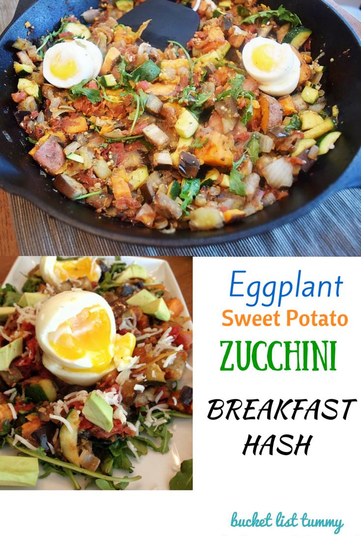 eggplant sweet potato zucchini breakfast hash