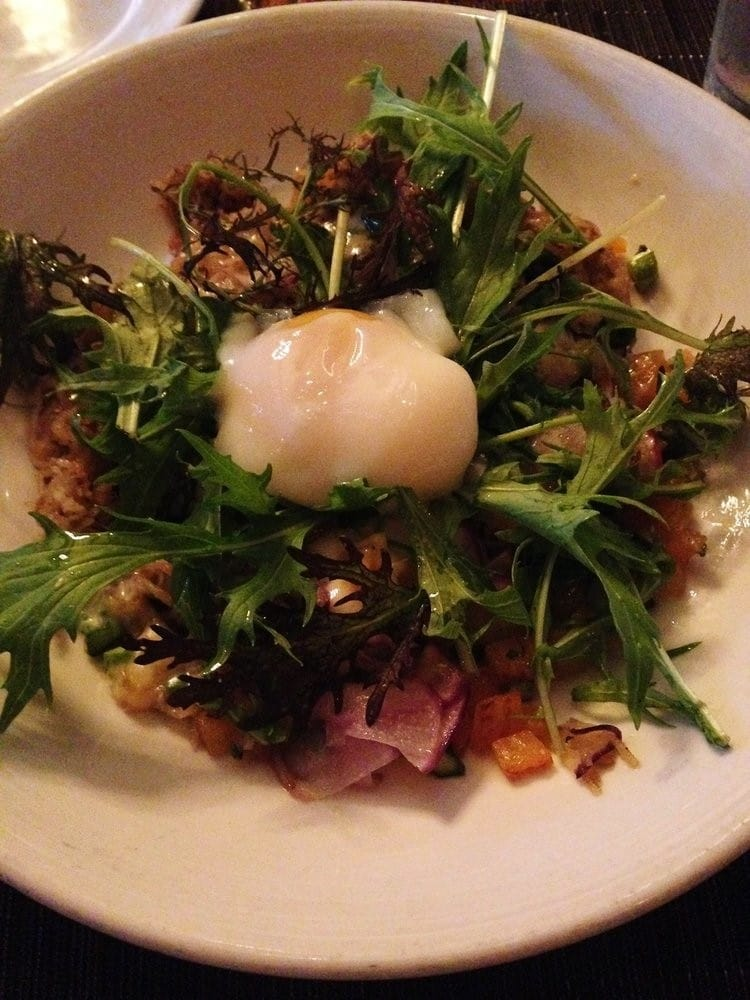 hash with poached egg, The Macintosh, Charleston