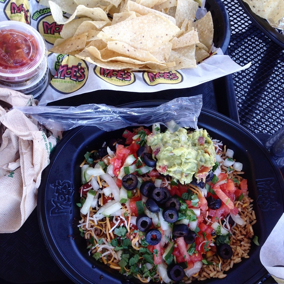 moes burrito bowl