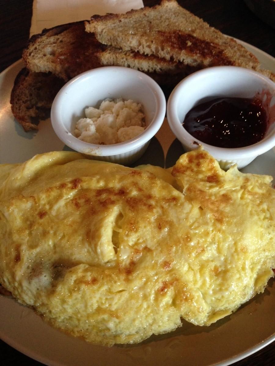 postrace breakfast omelet