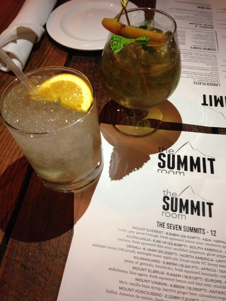 The Summit cocktails