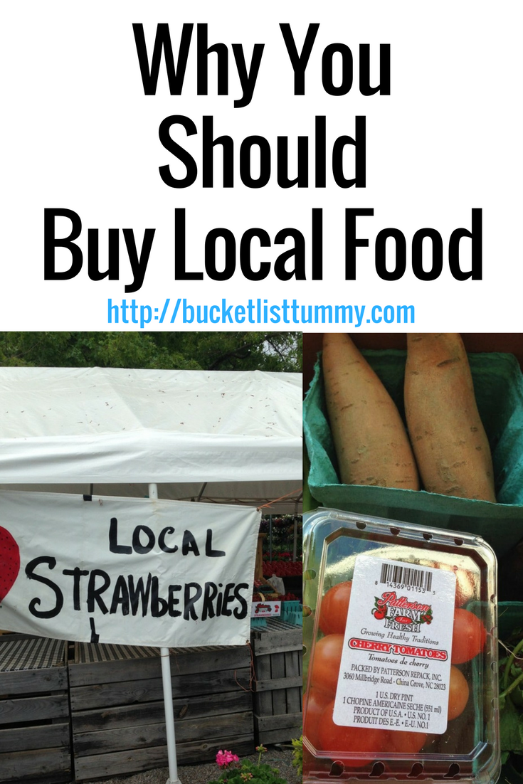Buying local foods