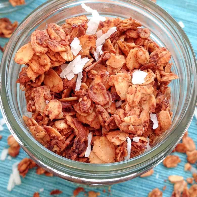 closeup of Maple Cinnamon Granola