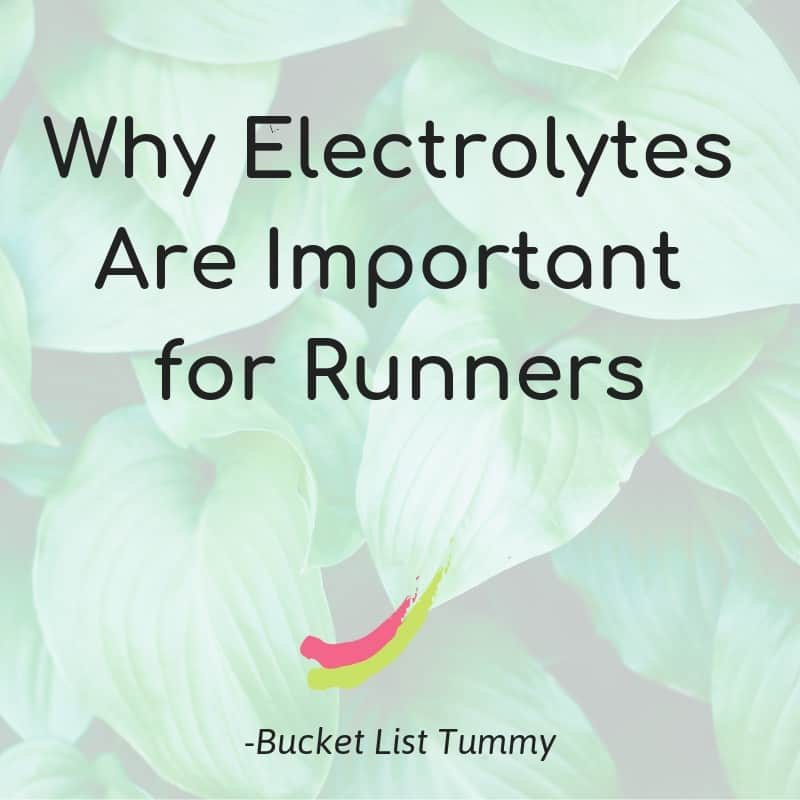 Electrolytes for Runners