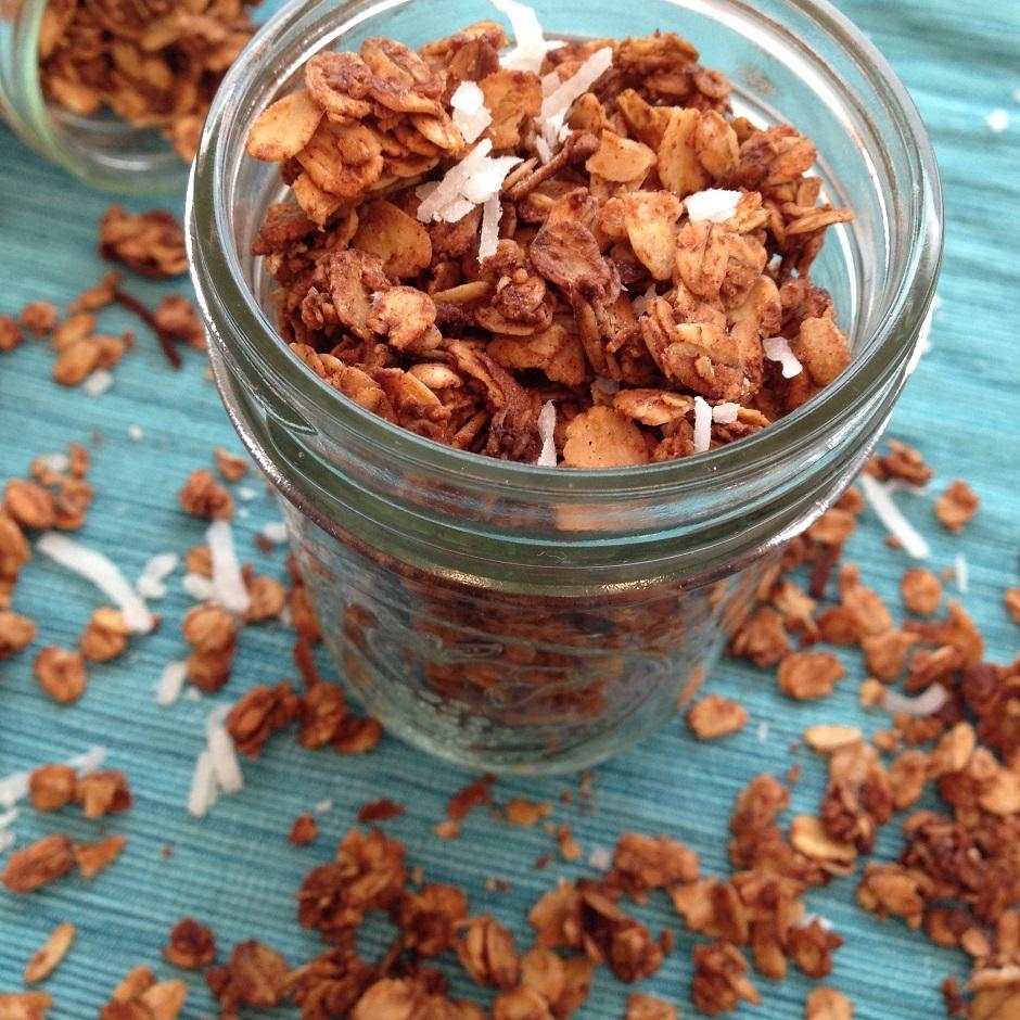 Coconut Maple Cinnamon Granola - Bucket List Tummy