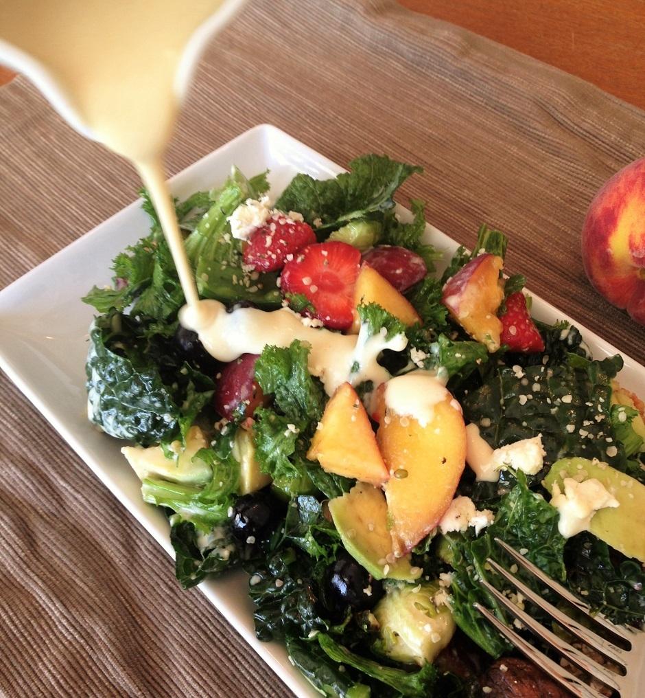mustard greens summer salad