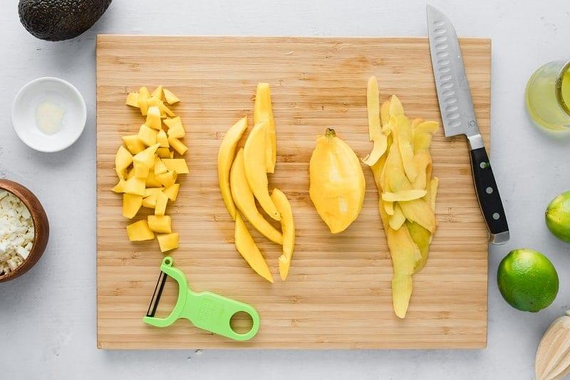 How to cut a mango | mango salad | summer quinoa salad