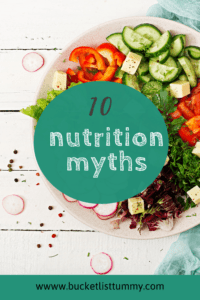 graphic for 10 nutrition myths
