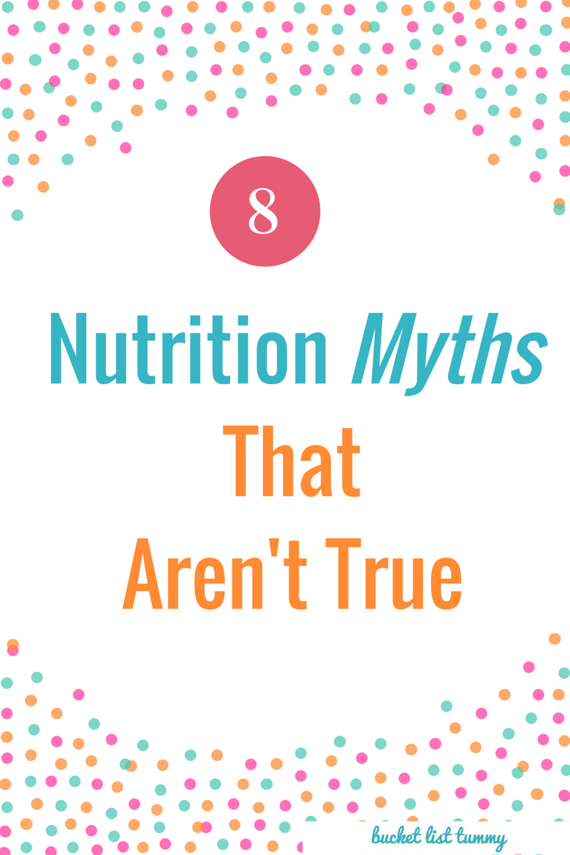 myths about nutrition These are a list of nutrition myths are very common amongst the athletic population in addition, these are also phrases that i have heard from nba athletes 1 eating large amounts of protein is a good source of energy and will help me grow and get bigger the function of protein is to repair.