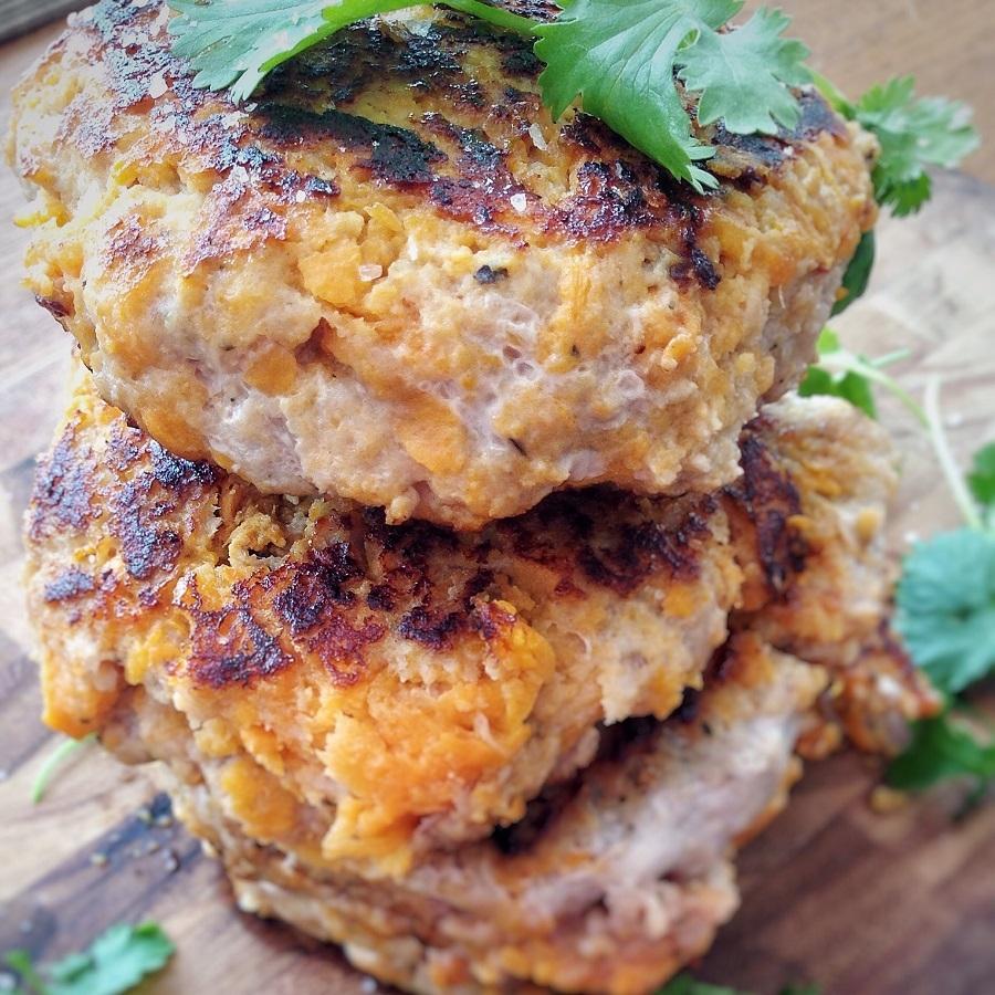 Sweet Potato Turkey Burger