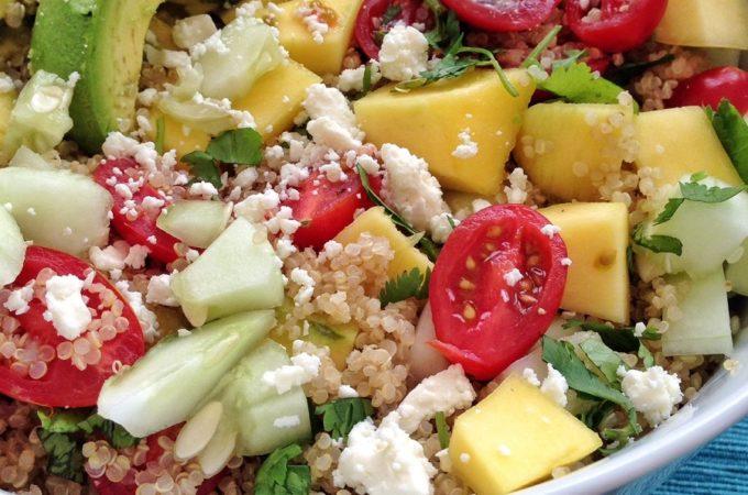 Mango Lime Quinoa Salad (Gluten Free)