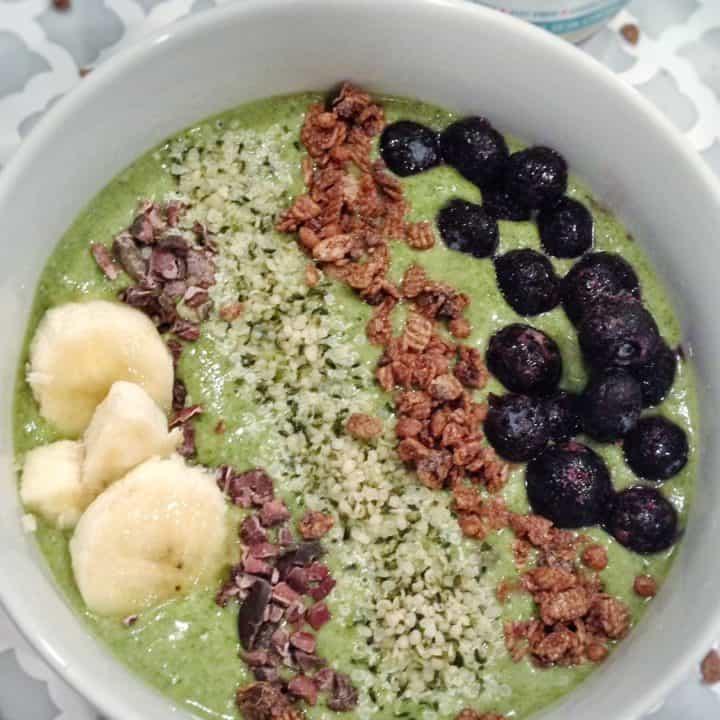 Vanilla Cake Batter Green Smoothie Bowl