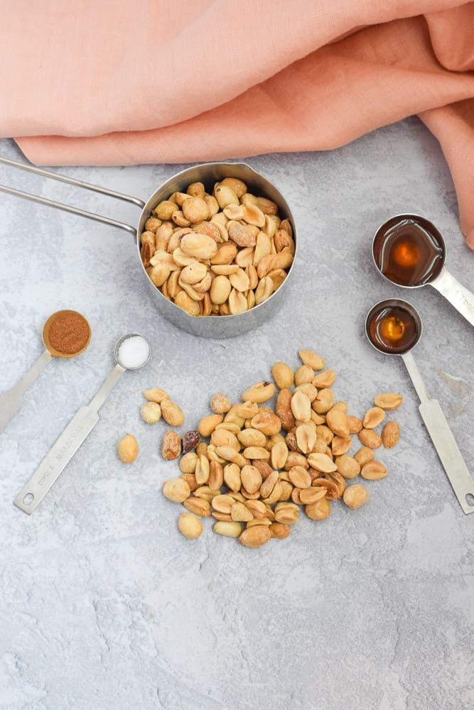 ingredients needed to make cinnamon peanut butter