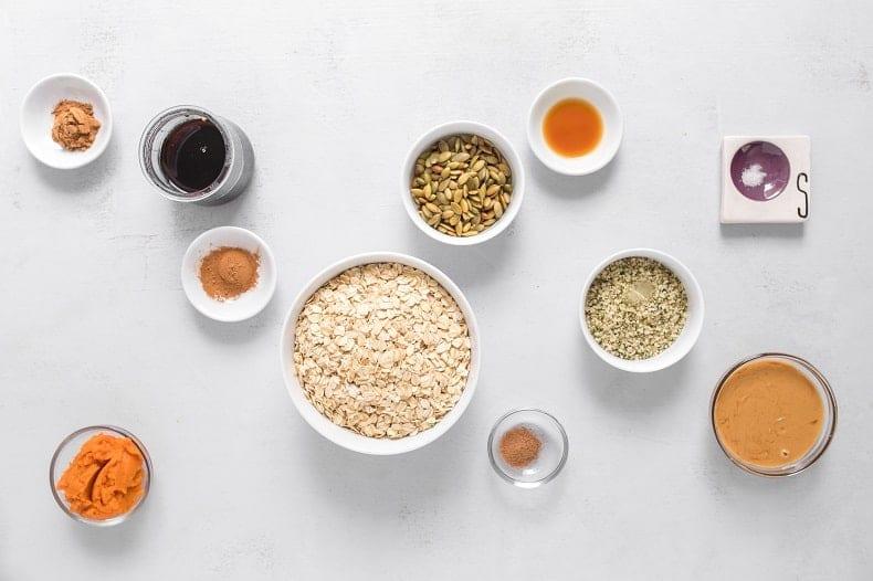 Ingredients to make Vegan Pumpkin Bars