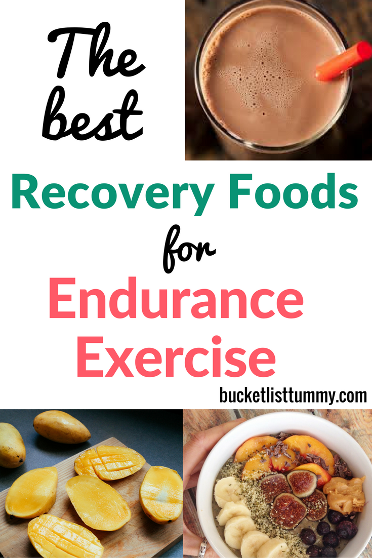 Running, Best recovery foods for endurance exercise
