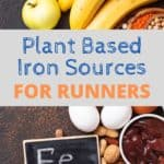 Vegetarian Iron rich foods for runners