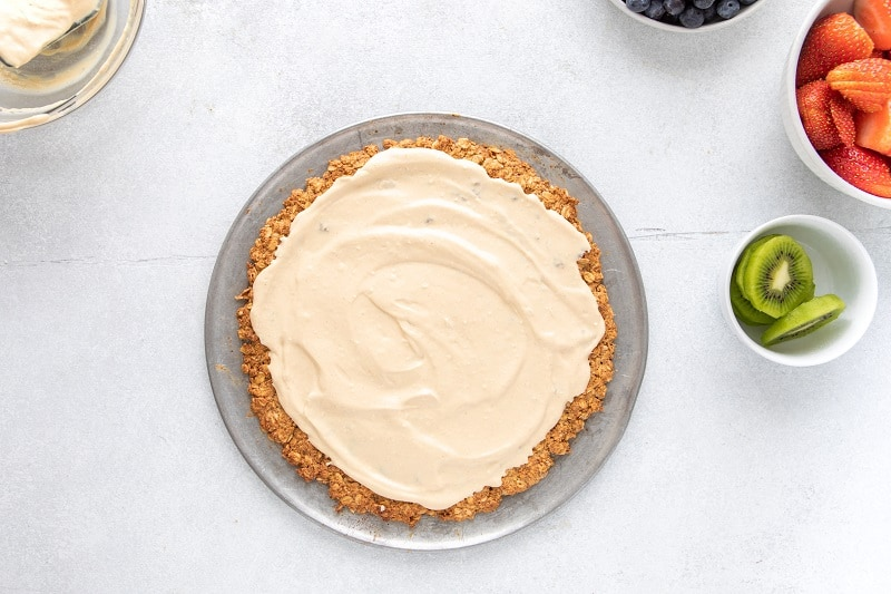 Almond flour crust with whipped peanut butter frosting | Bucket List Tummy