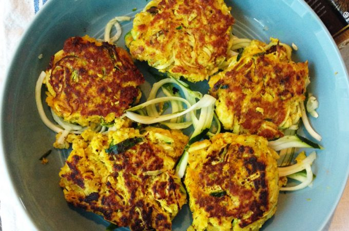 Turmeric Zucchini Salmon Patties