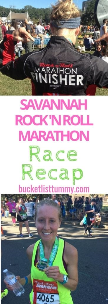 Savannah Rock 'n Roll Marathon Race Recap