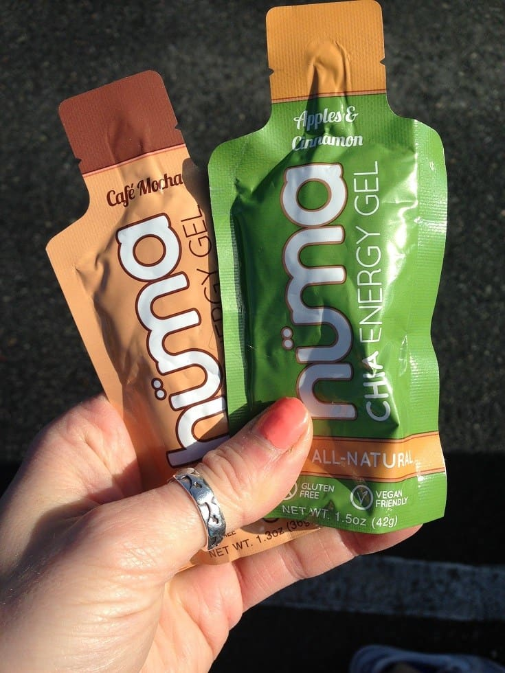 Huma gels for fuel during marathon