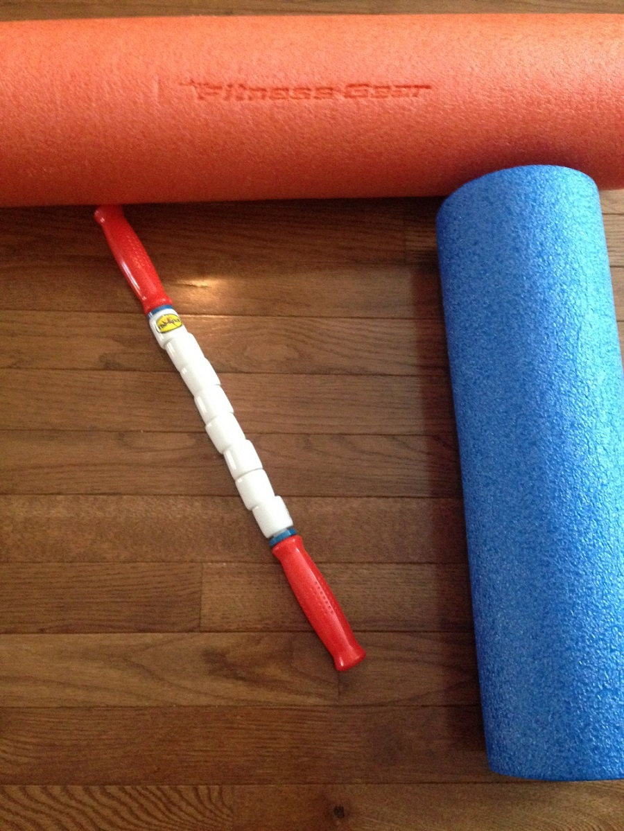 Foam rolling and running stick