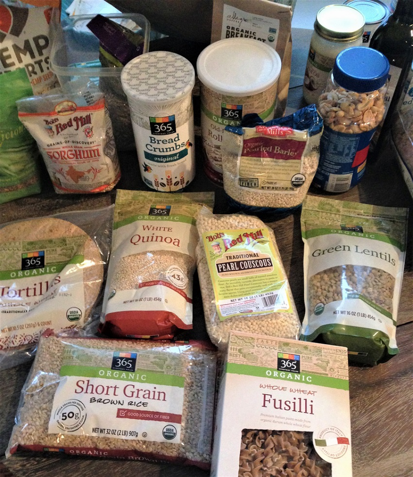 Rice, Pasta, Quinoa, Couscouos, Sorghum and other grains from Whole Foods