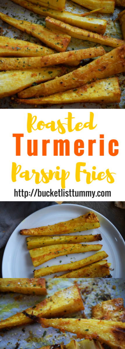 Roasted Turmeric Parsnip Fries