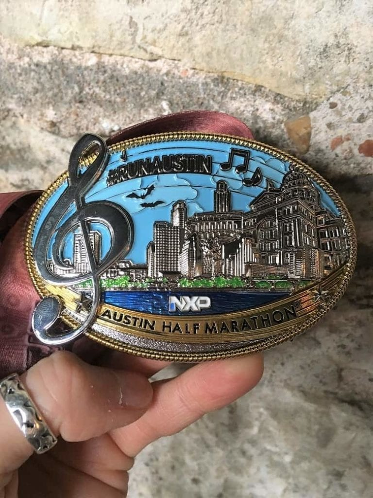 2017 Austin Half Marathon Race Medal