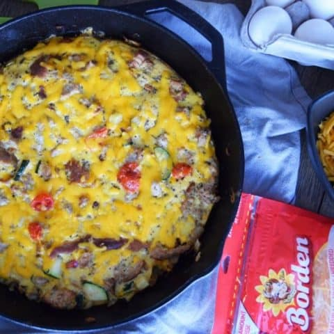 Cheesy Turkey and Veggie Frittata