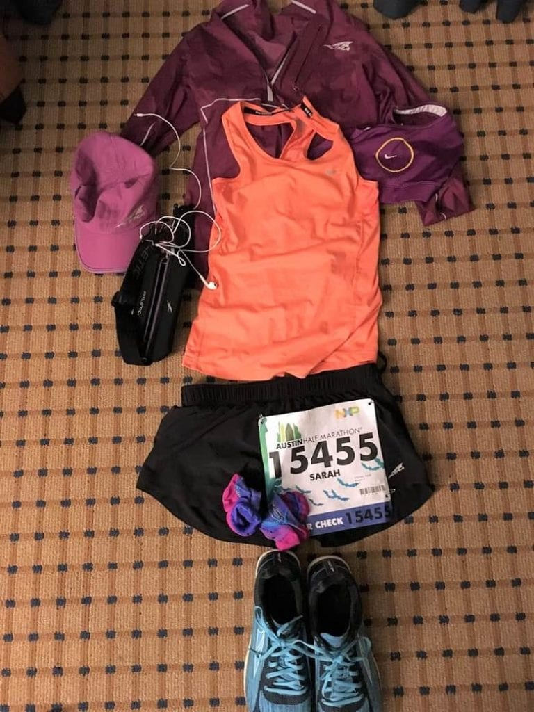 Outfit for Austin Half Marathon road race | Bucket List Tummy