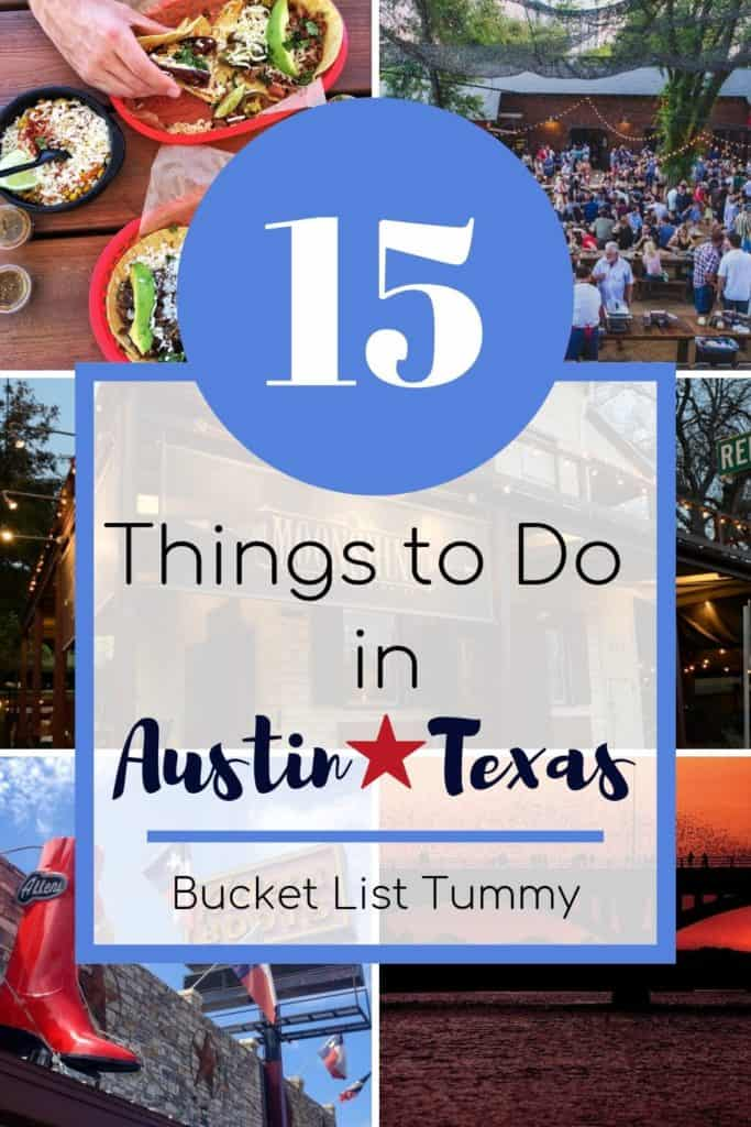 Austin Travel Guide with text overlay | Bucket List Tummy
