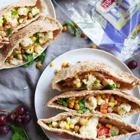 Roasted Chickpea Cauliflower Sandwiches
