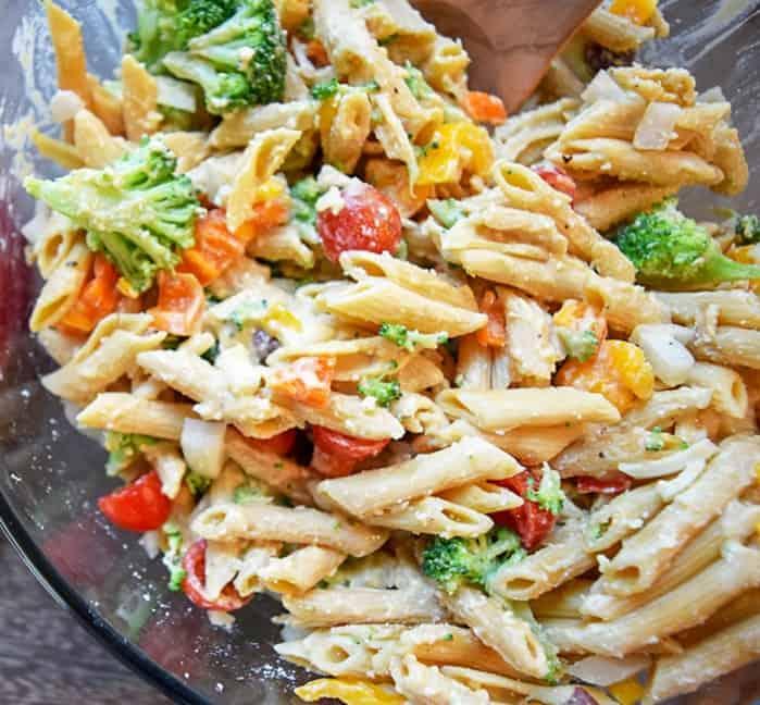 Gluten Free Pasta Salad with Vegetables | Bucket List Tummy