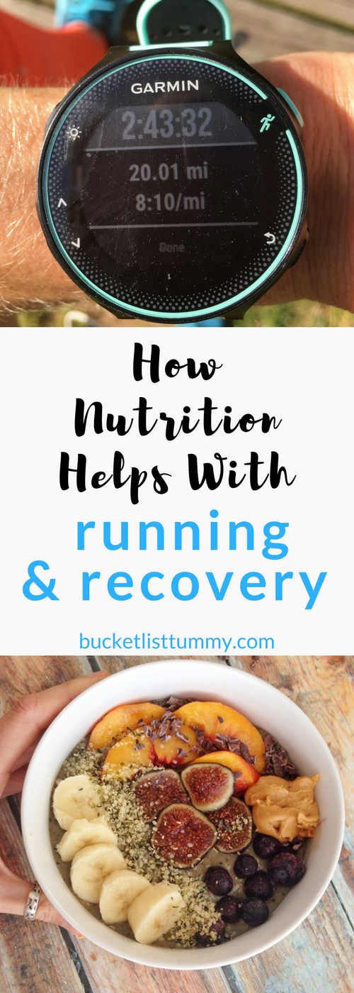 How Nutrition Helps with Running and Recovery || Marathon Training || Nutrition and Running