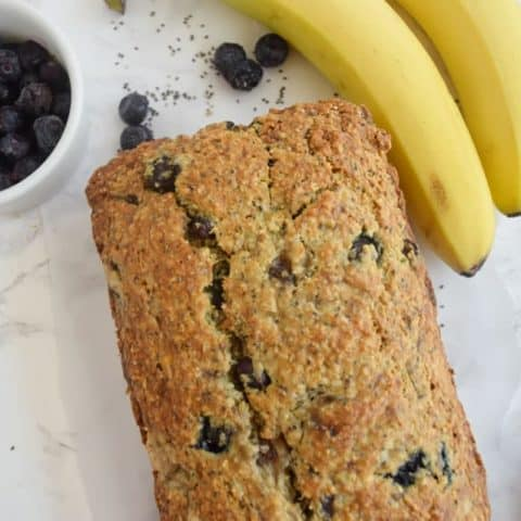 Blueberry Banana Chia Bread