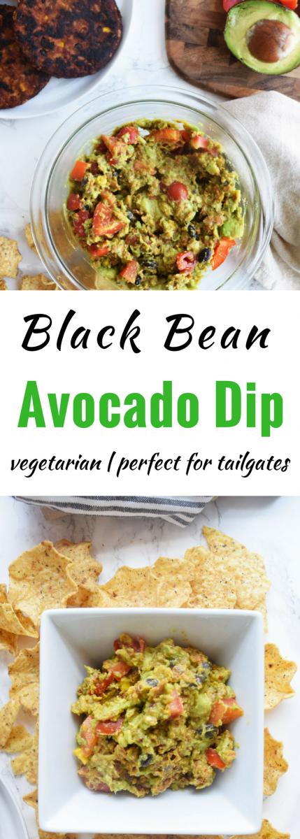 Black Bean Avocado Dip | Easy tailgating food | Appetizer dip recipes
