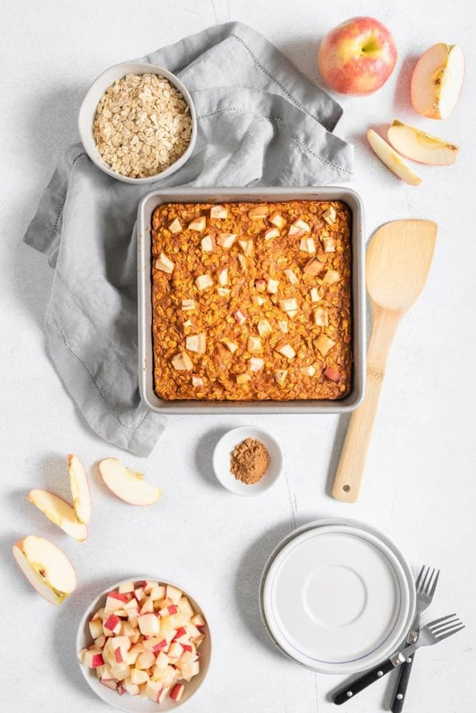 Finished Apple Pumpkin Pie Baked Oatmeal