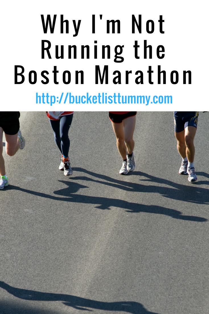Why I'm Not Running Boston Marathon