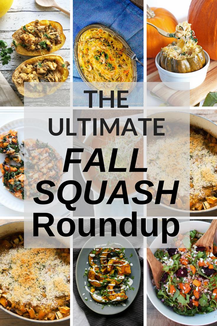 The Ultimate Fall Squash Roundup #thanksgiving #squashrecipes #roundup #holidayrecipes