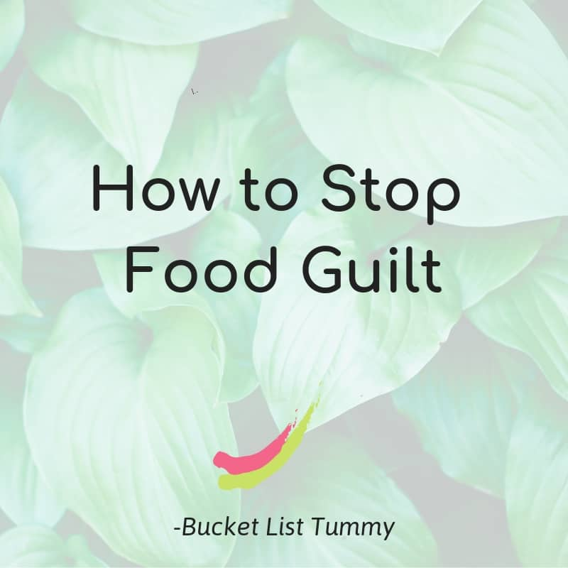 Text for tips to deal with food guilt