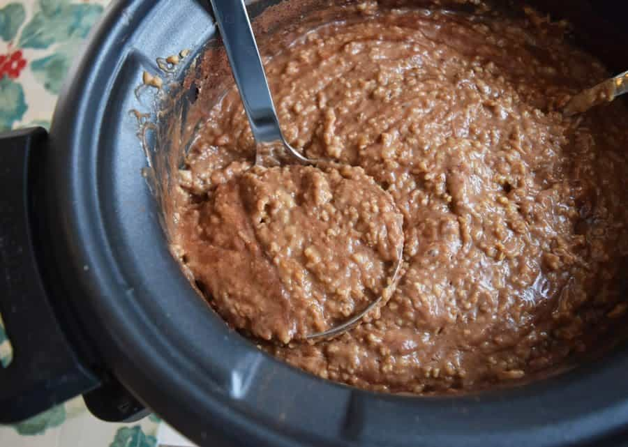 Gingerbread Crockpot Oatmeal in Slow cooker | Bucket List Tummy
